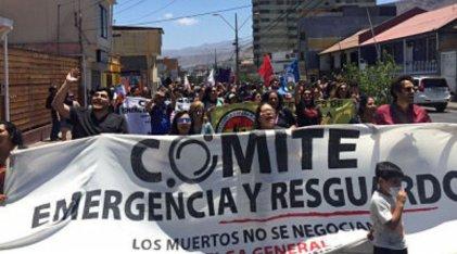 Chile: marcha en Antofagasta contra los despidos, la persecución, el subcontrato y el trabajo precario