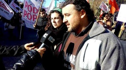 Mar del Plata: corte y acto frente al municipio