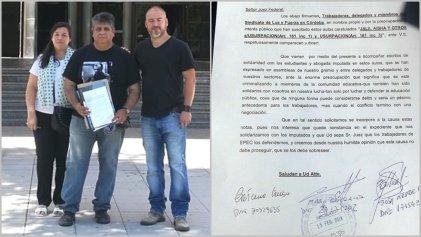 Estudiantes imputados de la UNC: Luz y Fuerza acercó su apoyo y solidaridad a Tribunales Federales