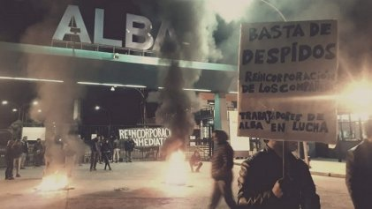 Acto por la reincorporación de los treinta despedidos en ALBA