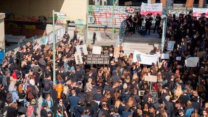 Manifestación en Berlín en solidaridad con la huelga de las mujeres en Polonia