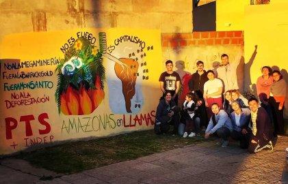 Cañuelas: denuncian el incendio del Amazonas con un mural