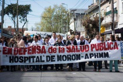 Morón: movilización al municipio ante la falta de insumos en el Hospital local