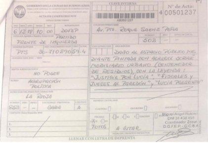 Larreta ataca con multas a quienes se movilizaron contra el fallo de impunidad en el femicidio de Lucía Pérez