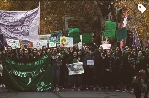 #28M: San Rafael se tiñó de verde
