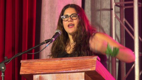 """Lamia Debbo: """"La fuerza para enfrentar el saqueo está en la unidad con las y los trabajadores"""""""