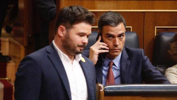 Las ansias de Sánchez frente a la investidura molestan a ERC