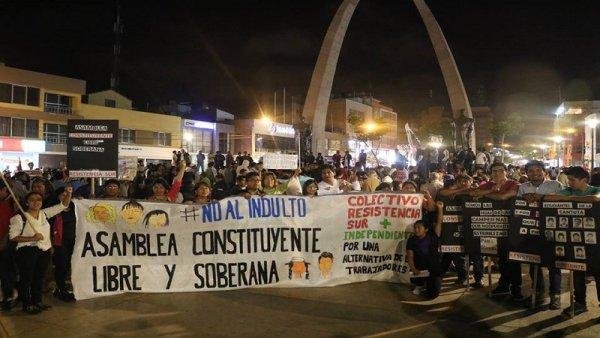 Por cuarta vez se movilizaron en Perú contra el indulto a Fujimori