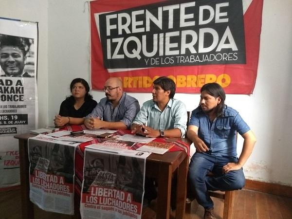 Jujuy: Acto por la libertad de los presos políticos y contra los despidos
